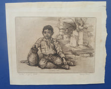 Load image into Gallery viewer, SCOTTISH ART. 1920s Original Etching by George BAIN (1881 - 1968). Rare Document of his Balkan Tours. Pencil Signed