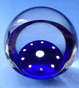 SCOTTISH PAPERWEIGHT. Limited Edition by Selkirk Glass with Faceted Window Panel. Marriage of Charles & Diana 1981