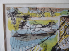 Load image into Gallery viewer, EDWARD GAGE. Listed Scottish Artist. Watercolour Painting Over Pen and Ink: The Hanson Cab II