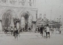 Load image into Gallery viewer, LISTED ARTIST. William Walcot (1874 - 1943). Etching of St Mark's Square, Venice. Signed