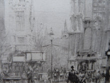 Load image into Gallery viewer, LISTED ARTIST. William Walcot (1874 - 1943). Westminster Abbey and Parliament Square, London; Pencil Signed, 1919