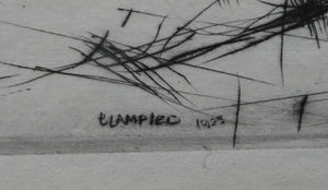 "Edmund Blampied (1886 - 1966)   ""Splashing Through the Surf"", 1923  Drypoint on paper; Pencil signed"