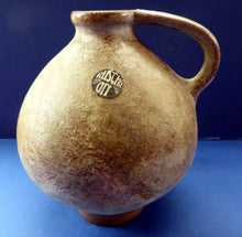 Load image into Gallery viewer, RARE Ruscha West German Ceramics Pitcher or Jug Vase. Beige Fat Lava Glazes. Embossed number 352; c 1960s