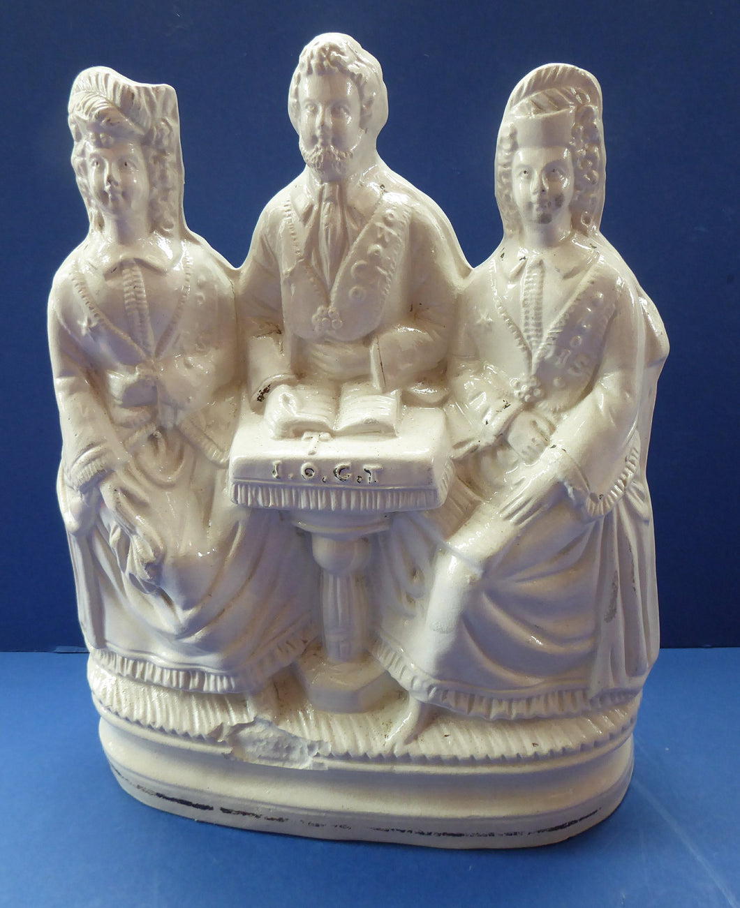 Rare 1860s Staffordshire Figurine: The Independent Order of Good Templars by Sampson Smith. Excellent Condition