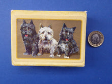 Load image into Gallery viewer, Playing Cards. Rare 1930s ART DECO Deck with Cute Terriers Design on Each Card. Original Card Box
