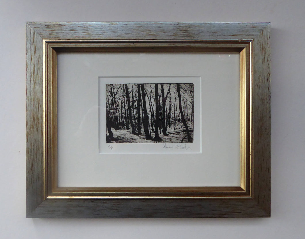 Contemporary SCOTTISH ART. Norman McBeath. Original Photogravure print. Artist's proof. Trees. SIGNED in pencil