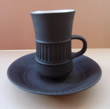 Load image into Gallery viewer, Vintage DANISH JH Quistgaard Stoneware Flamestone Coffee Cup and Saucer, 1950s