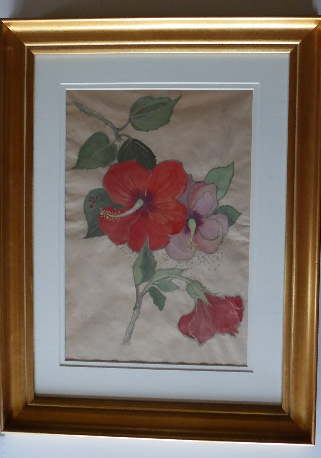 SCOTTISH ART. Watercolour by Mary Newbery Sturrock (1892 - 1985). Madeira; Floral Arrangement