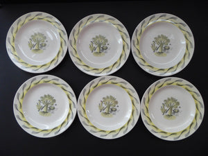"ERIC RAVILIOUS. Vintage 1953 Original Wedgwood Side Plates from the ""Garden Series"". 7 inches"