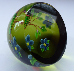 1993 Limited Edition Caithness CATERPILLAR Paperweight by William Manson