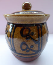 Load image into Gallery viewer, STUDIO POTTERY: Coxwold Pottery Lidded Pot by Peter Dick. With impressed mark; c1970s