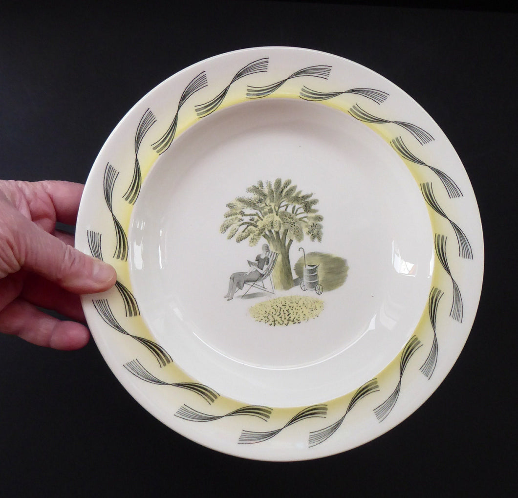 ERIC RAVILIOUS. Vintage 1953 Original Wedgwood Shallow Soup or Pudding Plates from the