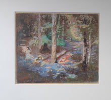 Load image into Gallery viewer, SCOTTISH ART. Charles Hodge Mackie. Bluebell Wood. Colour Woodcut. Framed