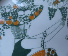 Load image into Gallery viewer, 1960s DANISH PLATE by Figgjo Flint. Sicilia Design Featuring Girl with Grapes