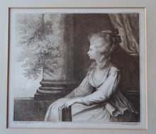 Load image into Gallery viewer, 1778 Francesco BARTOLOZZI Etching after Lady Diana Beauclerk, Duchess of Devonshire. Original 18th Century Stipple Engraving