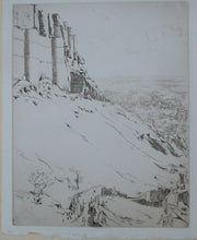 Load image into Gallery viewer, SCOTTISH ART. Ernest Stephen Lumsden. Etching entitled: Fort and City. Pencil Signed; 1914