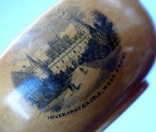 Load image into Gallery viewer, Antique 19th Century MAUCHLINE Ware Miniature Scottish Drinking Quaich. With Image of Inveraray Castle