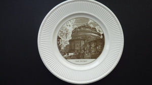 WEDGWOOD Piranesi Vedute di Roma Views: The Castle of St. Angelo. Diameter 10 1/2 inches
