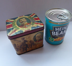 LORD KITCHENER, John French, Admiral Jellicoe etc. Rare Antique 1914 WWI Souvenir Tin for Leaf Tea