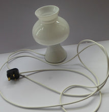 Load image into Gallery viewer, 1970s HOLMEGAARD Glass Vintage Table Lamp. White Mushroom Shape