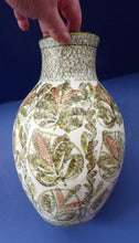 Load image into Gallery viewer, Vintage 1950s DENBY Glyn Colledge GLYNDBOURNE Vase. Hand Painted. 11 inches