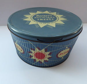 Vintage 1950s HORNER Delicious Sweets Tin. Fabulous Abstract - Festival of Britain Inspired Atomic Design