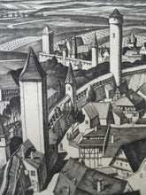 Load image into Gallery viewer, SCOTTISH ART. William Wilson (1905 - 1972). The Walls, Rothenburg ETCHING. Signed, Titled  and Dated 1929