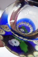 Load image into Gallery viewer, SCOTTISH GLASS. Vintage Caithness Glass Bulbous Glass Inkwell with Millefiori Canes and Thistle Decoration