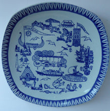 Load image into Gallery viewer, 1960s NORWEGIAN Stavangerflint Wall Decoration Plate. Larvik Ferry & Sandifjord and VisAfold