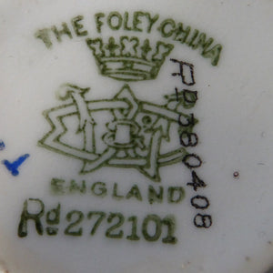 FOLEY China. Edward VII 1902 Porcelain Coronation Cup & Saucer