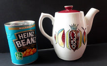 Load image into Gallery viewer, KITSCH 1960s Teapot or Coffee Pot with Abstract Fruit Patterns. LANGLEY POTTERY. Good Condition