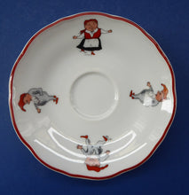 Load image into Gallery viewer, Vintage NORWEGIAN Porsgrund NISSE Elves or Gnomes THREE Spare Saucers. Dated 1993 on the base