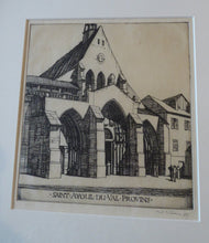 Load image into Gallery viewer, SCOTTISH ART. William Wilson (1905 - 1972). Saint Ayoul Church, Provins. ETCHING. Signed and Dated 1927
