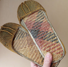 Load image into Gallery viewer, Unusual Vintage Oriental Slippers Adult Size & in Excellent Condition: