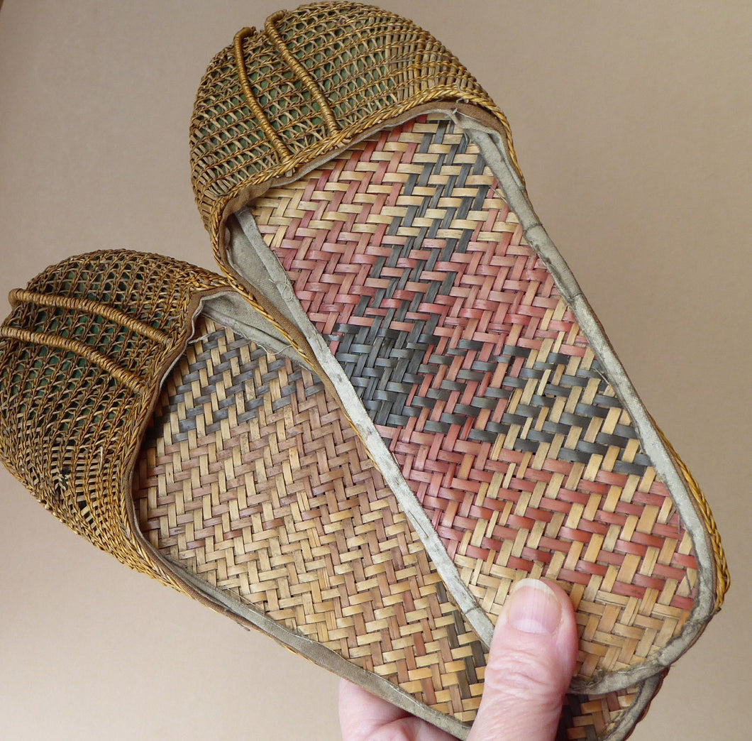 Unusual Vintage Oriental Slippers Adult Size & in Excellent Condition:
