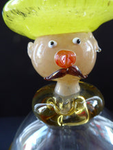 Load image into Gallery viewer, 1950s ITALIAN MURANO Glass Decanter in the Form of a Little Mexican Gentleman Wearing a Yellow Sombrero