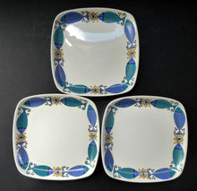 Load image into Gallery viewer, 1960s NORWEGIAN CLUPEA (Herring) Design by Turi for Figgjo Flint. SPARES Three Square Side Plates