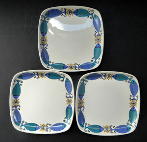 1960s NORWEGIAN CLUPEA (Herring) Design by Turi for Figgjo Flint. SPARES Three Square Side Plates