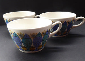 1960s NORWEGIAN CLUPEA (Herring) Design by Turi for Figgjo Flint. SPARES Three Large Tea Cups