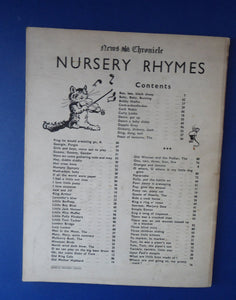 1930s Nursery Rhymes Paperback Music Book with Fabulous Illustrations by Baz