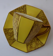 Load image into Gallery viewer, 1930s ROYAL DOULTON George V Art Deco Coffee Set. Yellow with Overlaid Gold Gilt Decoration