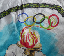 Load image into Gallery viewer, RARE 1950s Olympic Games Souvenir Head Scarf. Genuine Original Melbourne Olympic Games 1956