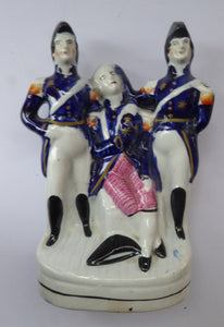 Rare Antique Staffordshire Figurine Representing the Death of Nelson, c 1840