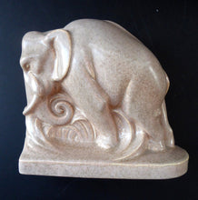 Load image into Gallery viewer, 1930s ART DECO Poole. Pair of Carter, Stabler & Adams Elephant Bookends