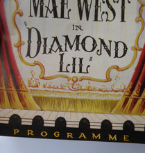 "Load image into Gallery viewer, 1948 MAE WEST ""Diamond Lil"" Theatre Programme. Rare Original Prince of Wales Theatre Issue in Good Condition"