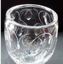 Load image into Gallery viewer, 1950s Stuart Crystal Cut Glass Vase by JOHN LUXTON. Height 8 1/2 inches.