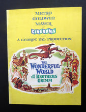 Load image into Gallery viewer, Collectable 1962 Wonderful World Of The Brothers Grimm. ORIGINAL MGM Film Programme