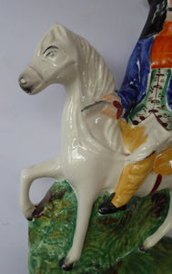 TOM KING HIGHWAYMAN. 19th Century Antique Staffordshire Figurine 1850s
