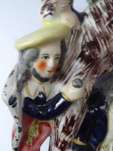 Load image into Gallery viewer, ANTIQUE Victorian Staffordshire Flatback Figurine. THE RIVAL. Two Secret Lovers and Jealous Husband. Episode from Dante's Divine Comedy