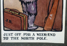 Load image into Gallery viewer, SCOTTISH ART: Charles Rennie Dowell ( 1867 - 1935). Four Little Watercolour Illustrations Relating to the Race for the North Pole in 1909